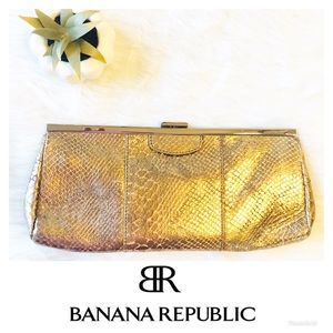 Banana Republic | Snakeskin Embossed Clutch Bag